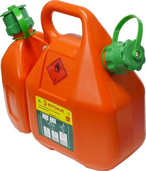 Canistra de plastic, combi, pentru ulei si benzina 6L RO0403T-13 - ForeStore.ro