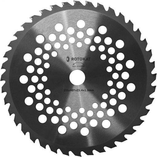 Disc cosire pentru motocoasa, dinti vidia, 40T, 255 x 25.4 x 1.3 mm RODT40251A - ForeStore.ro