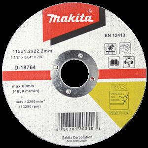 Makita D-18764 - DISC TĂIERE INOX 115X1